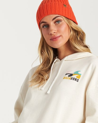 2 Beach Waves Hoodie White J654WBWR Billabong