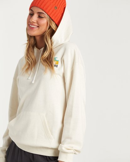 1 Beach Waves Hoodie White J654WBWR Billabong