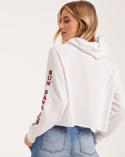 4 Sandy Days Fleece Hoodie White J662VBSA Billabong