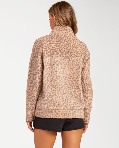3 A/Div Boundary Mock Neck Fleece Brown J6703BBO Billabong