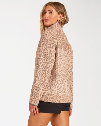 2 A/Div Boundary Mock Neck Fleece Brown J6703BBO Billabong