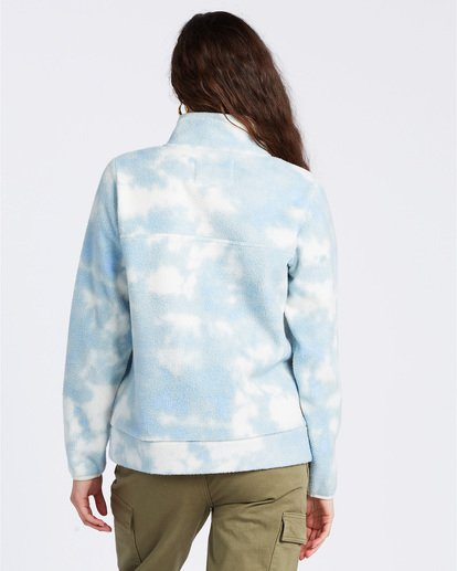 3 A/DIV Boundary Mock Neck Fleece Blue J6703BBO Billabong