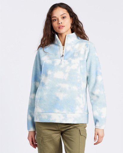 1 A/DIV Boundary Mock Neck Fleece Blue J6703BBO Billabong