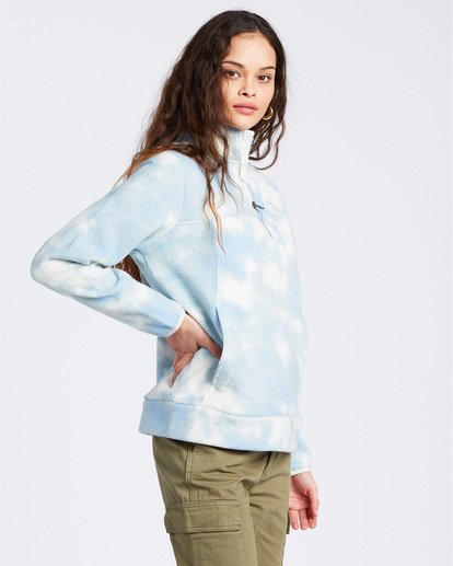 2 A/DIV Boundary Mock Neck Fleece Blue J6703BBO Billabong