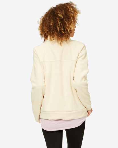 2 A/Div Boundary Mock Neck Fleece White J6703BBO Billabong