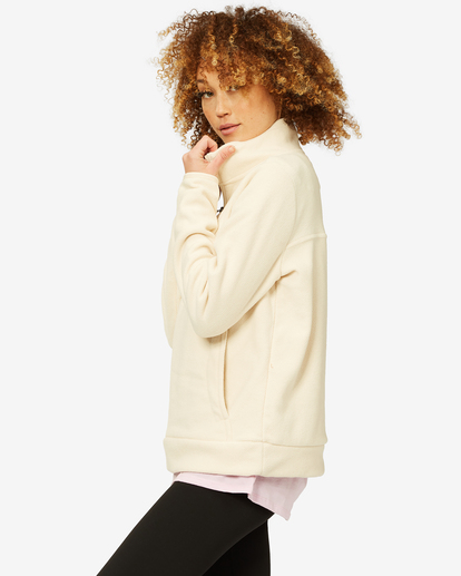 1 A/Div Boundary Mock Neck Fleece White J6703BBO Billabong
