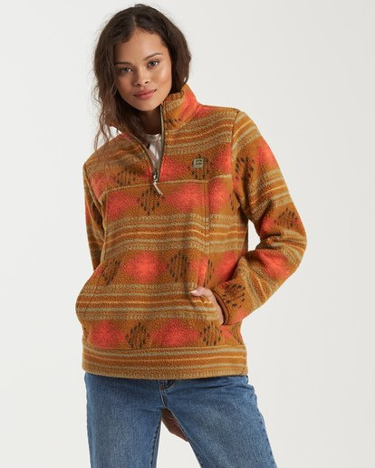 5 A/DIV Boundary Mock Neck Fleece Green J6703BBO Billabong