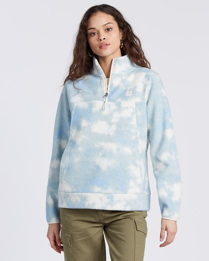 4 A/DIV Boundary Mock Neck Fleece Blue J6703BBO Billabong