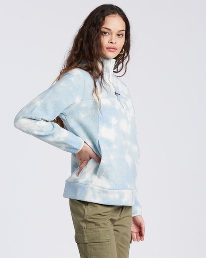 5 A/DIV Boundary Mock Neck Fleece Blue J6703BBO Billabong
