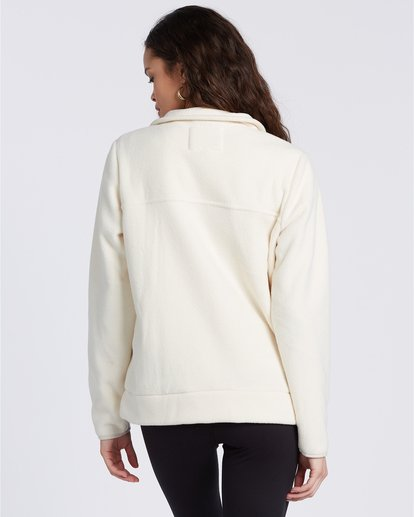 5 A/Div Boundary Mock Neck Fleece White J6703BBO Billabong