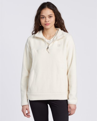 3 A/Div Boundary Mock Neck Fleece White J6703BBO Billabong