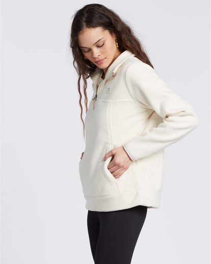 4 A/Div Boundary Mock Neck Fleece White J6703BBO Billabong