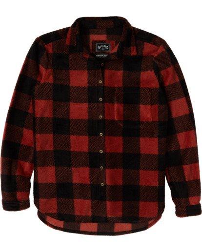 6 A/DIV Forge Flannel Shirt Brown J6743BFO Billabong