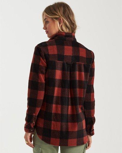 2 A/DIV Forge Flannel Shirt Brown J6743BFO Billabong
