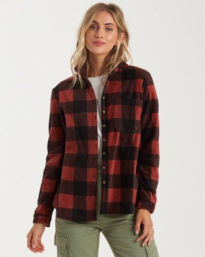 0 A/DIV Forge Flannel Shirt Brown J6743BFO Billabong