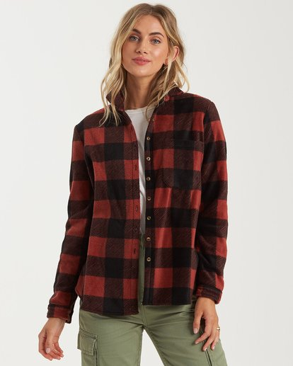 3 A/DIV Forge Flannel Shirt Brown J6743BFO Billabong