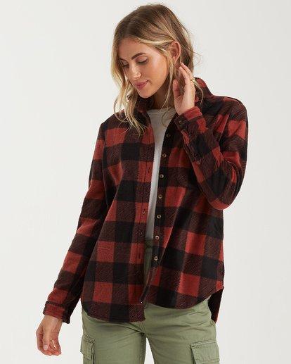 4 A/DIV Forge Flannel Shirt Brown J6743BFO Billabong
