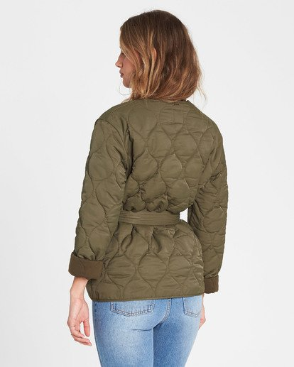 3 Take Detours Quilted Nylon Jacket  J701SBTA Billabong