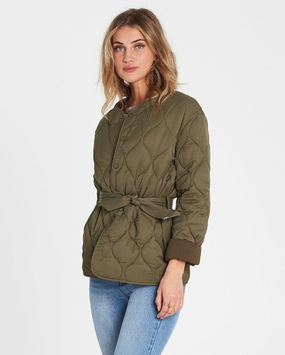 2 Take Detours Quilted Nylon Jacket  J701SBTA Billabong