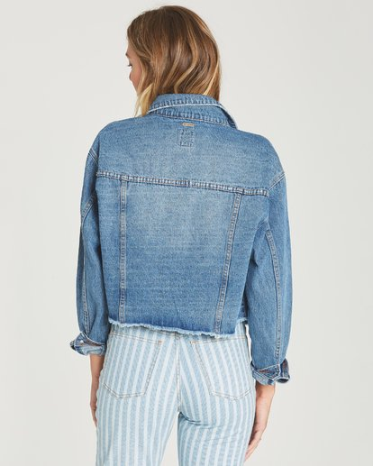 2 Take Me Higher Denim Jacket Blue J702TBTA Billabong