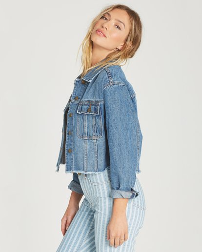 1 Take Me Higher Denim Jacket Blue J702TBTA Billabong