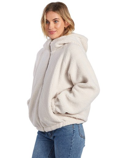 4 A/DIV Boundary Reversible Fleece Jacket Beige J7031BBO Billabong