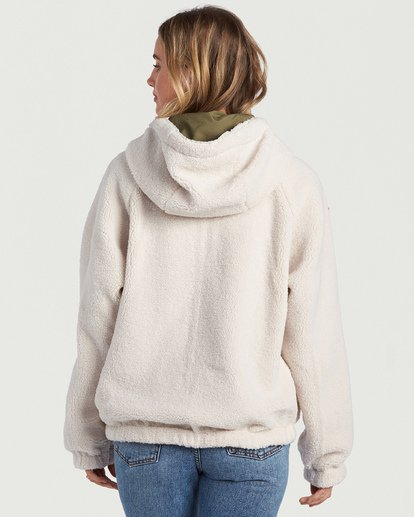 10 A/DIV Boundary Reversible Fleece Jacket Beige J7031BBO Billabong