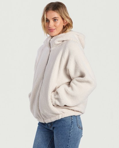 8 A/DIV Boundary Reversible Fleece Jacket Beige J7031BBO Billabong