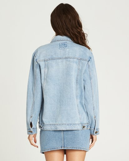 2 Always Truckin' Denim Jacket Blue J704MALW Billabong