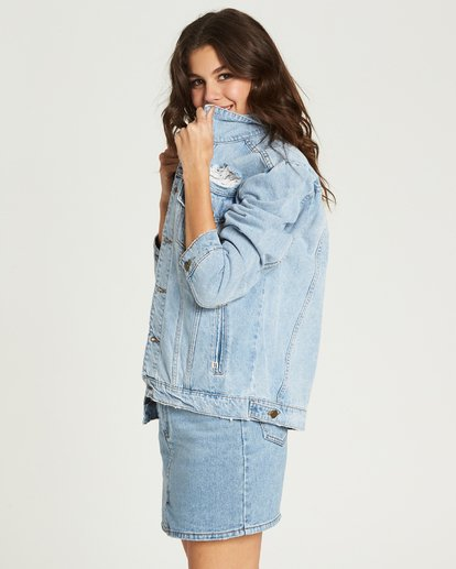 1 Always Truckin' Denim Jacket Blue J704MALW Billabong
