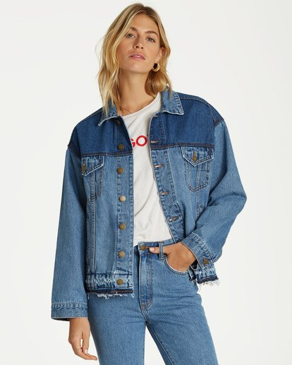 0 Love N Piece Denim Jacket Blue J704VBLO Billabong