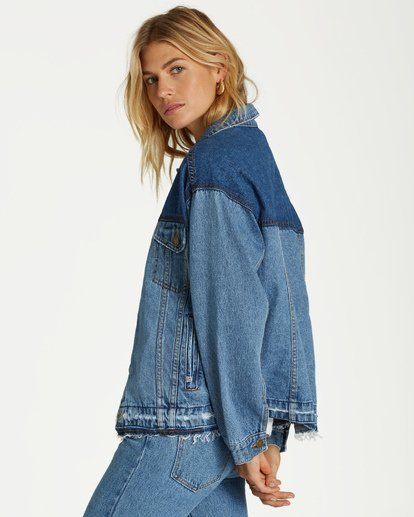1 Love N Piece Denim Jacket Blue J704VBLO Billabong