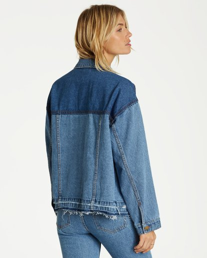 2 Love N Piece Denim Jacket Blue J704VBLO Billabong