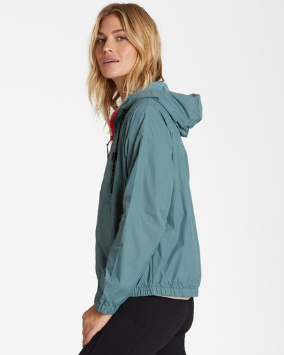 1 Transport Windbreaker Jacket Green J705WBTR Billabong