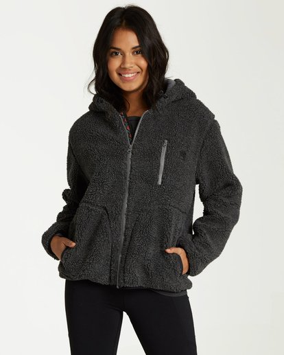2 A/DIV Switchback Sherpa Jacket Black J708WBSW Billabong