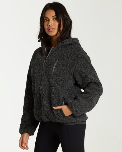 3 A/DIV Switchback Sherpa Jacket Black J708WBSW Billabong