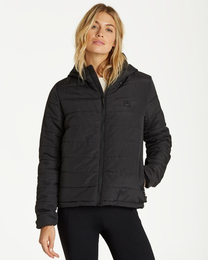 1 A/DIV Transport Puffer Jacket Black J714SBTR Billabong