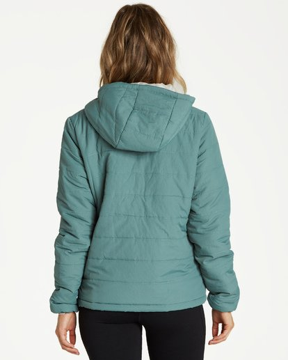 2 A/DIV Transport Puffer Jacket Green J714SBTR Billabong