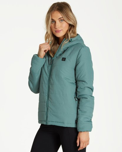 1 A/DIV Transport Puffer Jacket Green J714SBTR Billabong