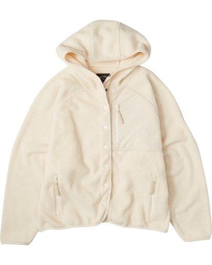 3 A/Div Tofino Snap Front Jacket White J7703BTO Billabong