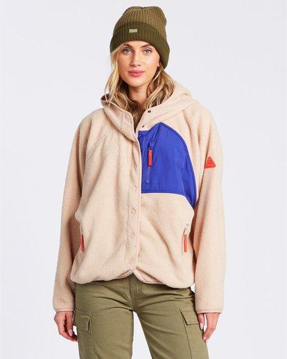 1 A/DIV Tofino Snap Front Jacket Green J7703BTO Billabong