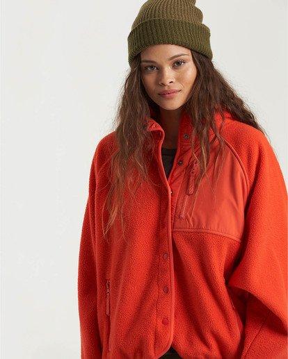 2 A/DIV Tofino Snap Front Jacket Red J7703BTO Billabong