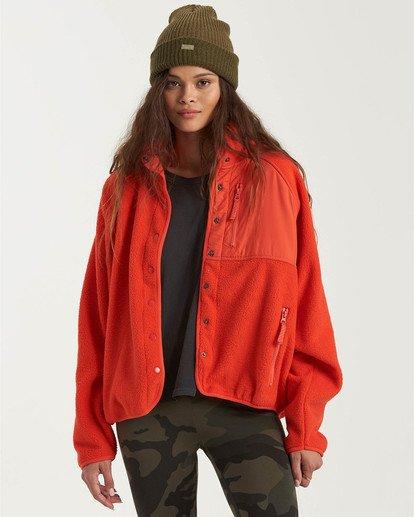 0 A/DIV Tofino Snap Front Jacket Red J7703BTO Billabong