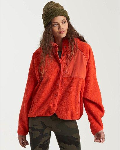 1 A/DIV Tofino Snap Front Jacket Red J7703BTO Billabong