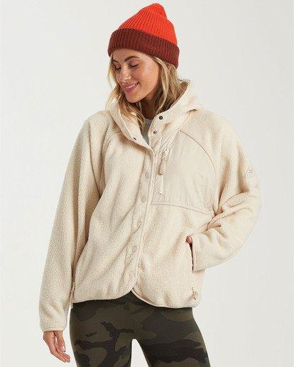 1 A/Div Tofino Snap Front Jacket White J7703BTO Billabong