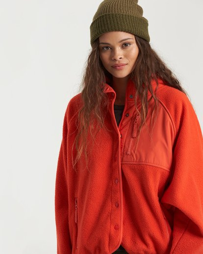 5 A/DIV Tofino Snap Front Jacket Red J7703BTO Billabong