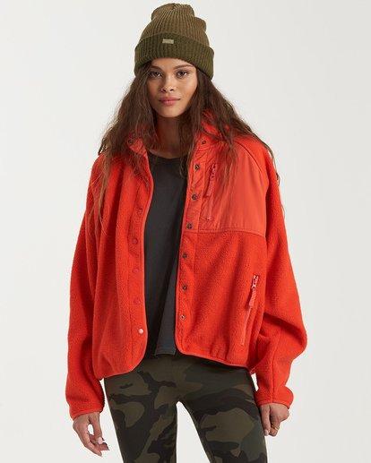 3 A/DIV Tofino Snap Front Jacket Red J7703BTO Billabong