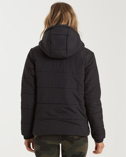 2 A/Div Transport Puffer Jacket Black J7733BTR Billabong