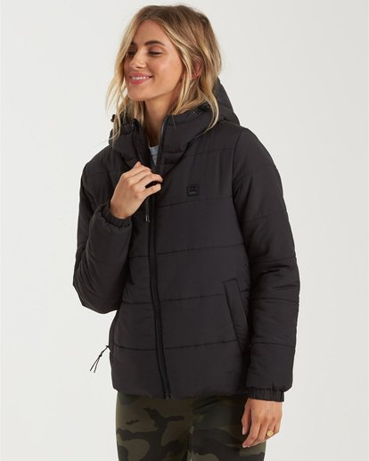 1 A/Div Transport Puffer Jacket Black J7733BTR Billabong