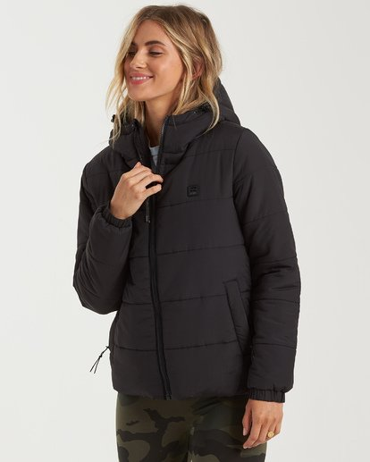 4 A/Div Transport Puffer Jacket Black J7733BTR Billabong